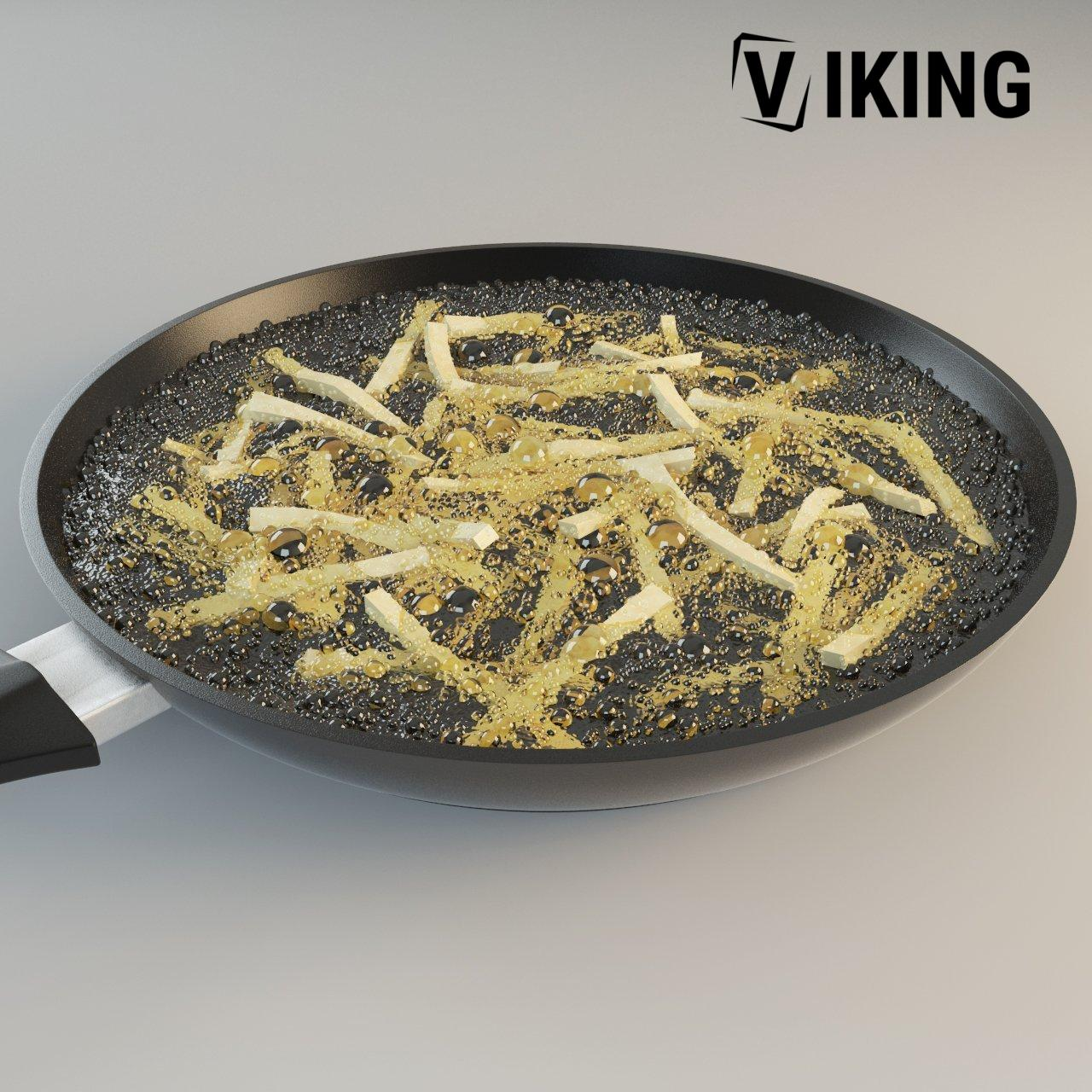 3D Frying Pan With Fried Potato Model 22 Free Download 2