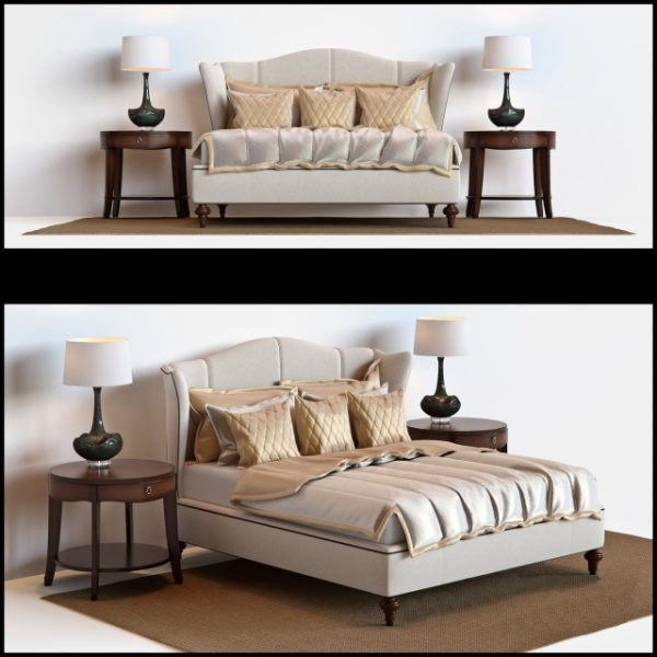3D Hickory White Bed Model 158 Free Download