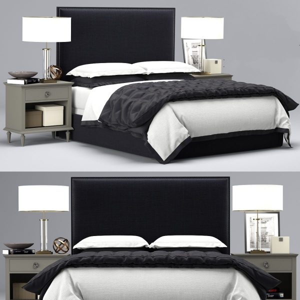 3D Restoration Hardware Lawson Non Tufted Bed Model 190 Free Download 1 1200x1200 1