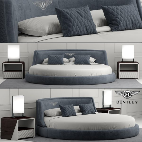 3D Round bed Model 206 Free Download by Cong Thuan 2
