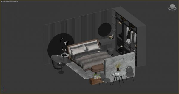 3D Set Bed Model 207 Free Download by Duc Nam 1536x811 1