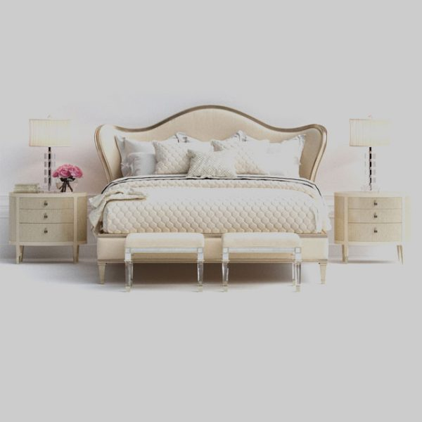 3D Set Bed Model 208 Free Download by Dinh Thanh