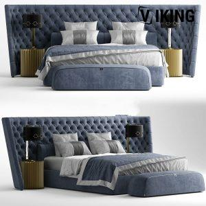 3D Vittoria Frigerio MEDICI LARGE Bed Model 193 Free Download scaled 1