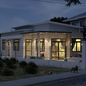 4146 Exterior House Scene Sketchup Model Free Download by Duy 6