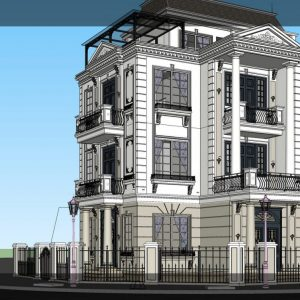 4211 Exterior Villa Scene Sketchup Model by An Ly 4 1536x747 1