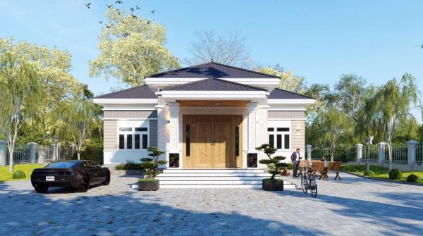 4231 Exterior House Scene Sketchup Model by DatHouzz 1 1024x571 1