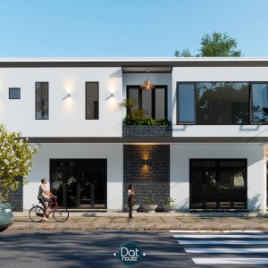 4290 Exterior House Scene Sketchup Model By DatHouzz 2