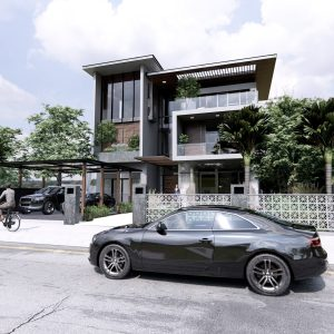 4321 Exterior House Scene Sketchup Model by Duy Dao 1