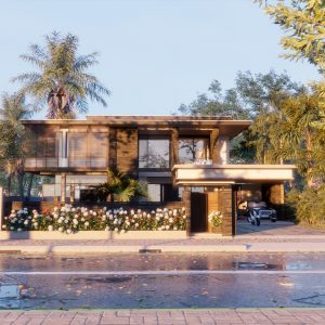 4330 Exterior House Scene Sketchup Model by Thoai Tran 4