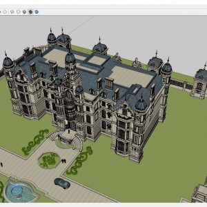 4339 Exterior Neoclassical castle Scene Sketchup Model by CuongCoVua 1