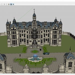 4339 Exterior Neoclassical castle Scene Sketchup Model by CuongCoVua 2