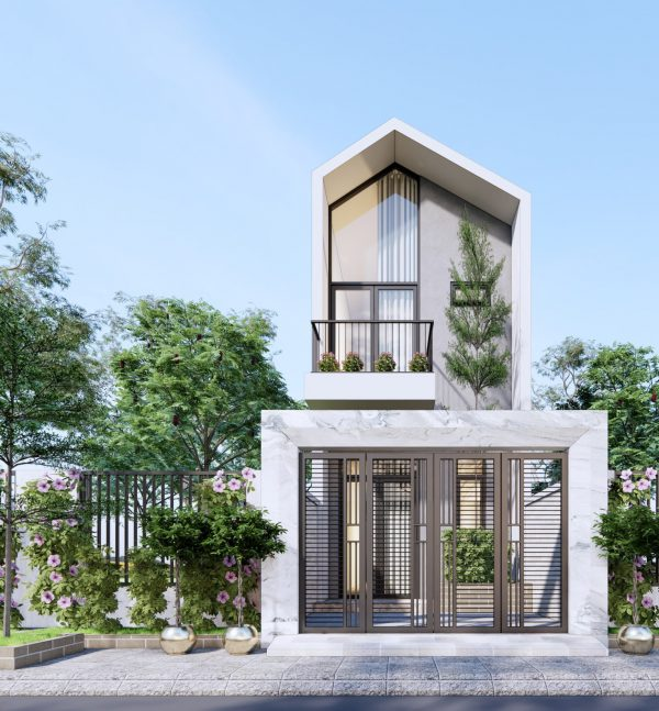 4388 Exterior House Scene Sketchup Model By Nguyen Huu Dieu 1