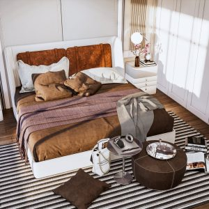 4444.Bedroom Scene Sketchup File free download by Duy Dao 1