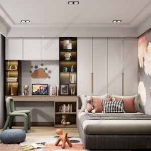 4467.Children room Scene Sketchup File free download by Cuong Covua