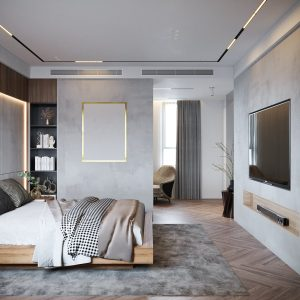 4523.Bedroom Scene 3dsmax File free download by Mai Long 1
