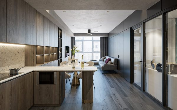 4591.Interior Apartment Scene 3dsmax File free download by Dat Le 4