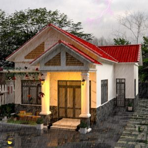 4612 Exterior House Scene Sketchup Model Free Download by AHuy Quang 2