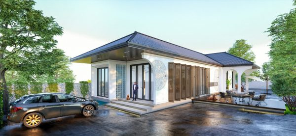 4634 Exterior House Scene Sketchup Model Free Download by Kts Trieu 2048x947 1