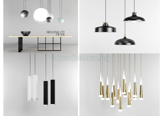 516.Chandeliers Ceiling light File free download
