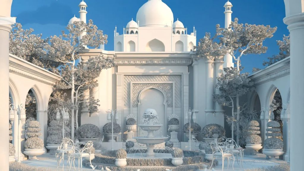 6115 TAJ MAHAL Exterior Scene Sketchup Model by Nguyen Dinh Quoc 13 scaled 2