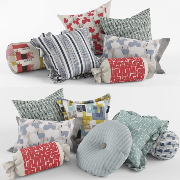 908.A set of Pillows 3dsmax File free download 2 scaled 1