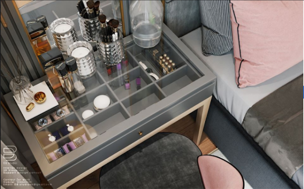 Free 3D Models Dressing Table By D3 studio
