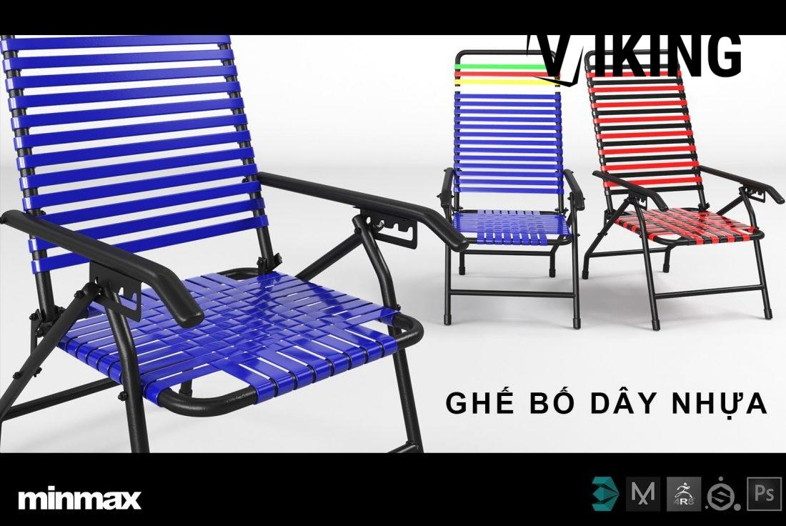 TV98 - 3D Model Ghe Bo Day Nhua Free Download